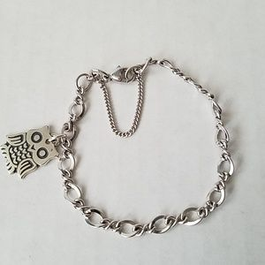 James Avery bracelet w/ Owl charm